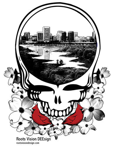Richmond, Virginia Deadhead sticker